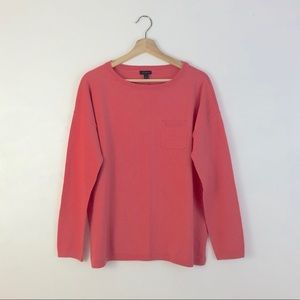 NWT Talbots Long Sleeves Coral Pink Sweatshirt L